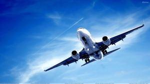 Aero Plane In Blue Sky