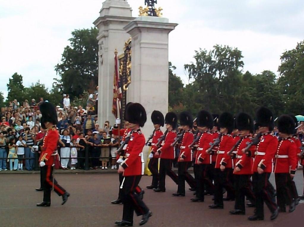 11 Royal guard parade in front of Buckingham Palace, London, UK